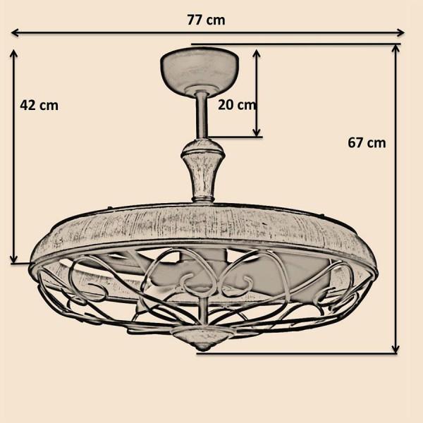 Quạt trần Eliza Kết hợp đèn trang trí và quạt trần – Giải pháp 2 trong 1