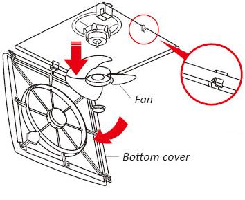 Quạt trần SA - 398 Thiết kế lắp âm trần, hoạt động nhẹ nhàng ít tiếng động