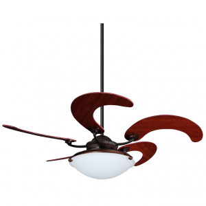 Quạt trần Sole thiết kế kiểu cụp xòe 5 cánh cong làm bằng gỗ cao cấp siêu đẹp, siêu êm
