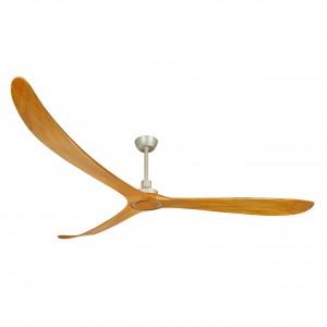 Quạt trần Timmer 100 thiết kế 3 cánh gỗ cong cùng động cơ DC tiết kiếm điện năng